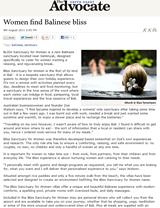 Coffs Coast Advocate: Women Find Balinese Bliss