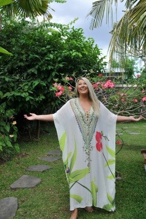 Zoe Watson in the garden at her Bliss Sanctuary For Women
