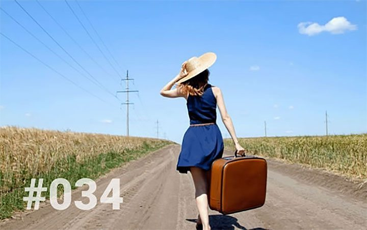 Blog 34: Things to know about solo travel for women… Woman walking with suitcase