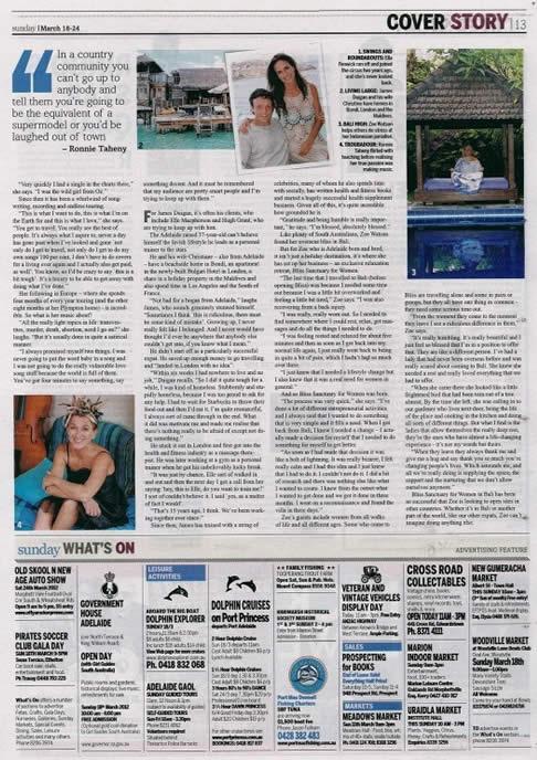 Sunday Mail: Expat Adventures – Zoë Watson