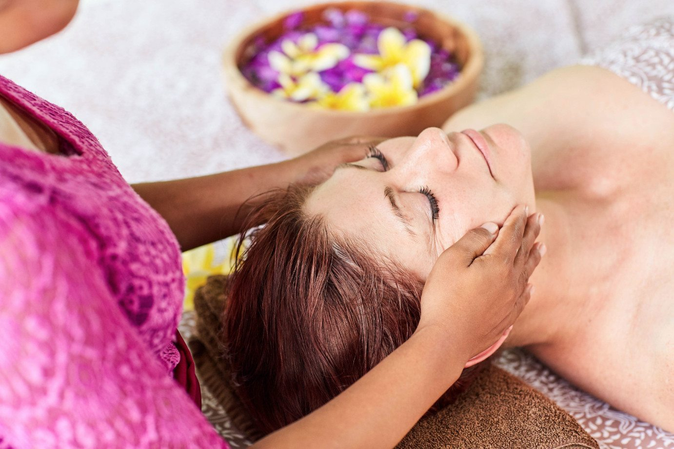 Luxurious head massage at Bliss