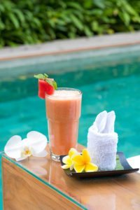 Delicious smoothie- Women are spoiled with choice at their Bliss womens wellbeing retreat - food is unlimited