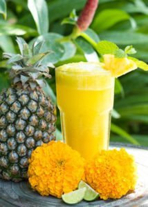 Gorgeous unlimited fresh food prepared at our Bliss Sanctuaries like refreshing tropical smoothies and juices