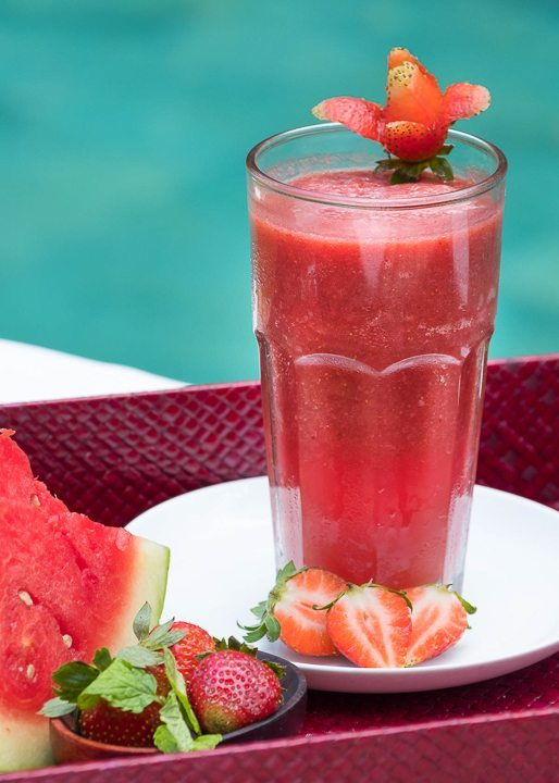 Delicious smoothies are unlimited at Bliss Sanctuary For Women Bali yoga and spa retreat