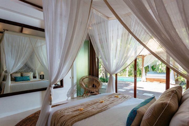Beautiful Poolside Retreat bedroom, Bali retreat, Bliss Sanctuary For Women, Seminyak Sanctuary