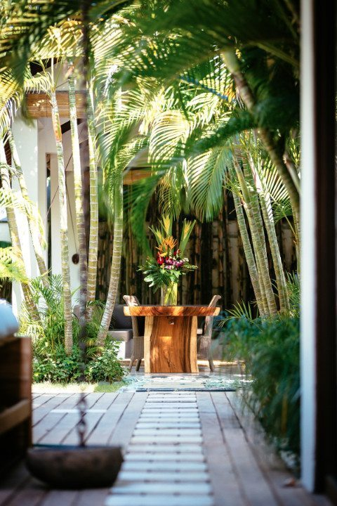 Luxury outdoor dining area, Bali retreats, Bliss Sanctuary For Women, Seminyak Sanctuary
