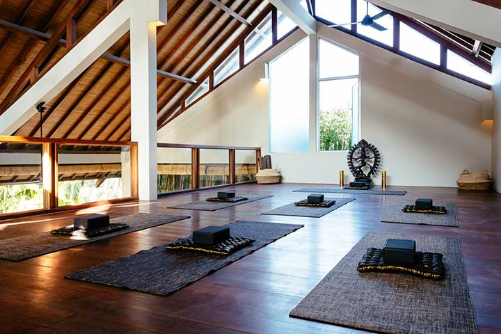 Yoga area at Bliss Sanctuary for Women, Seminyak, Bali