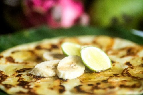 Banana Pancakes - food is plentiful and delicious at our Bliss Spa Retreat