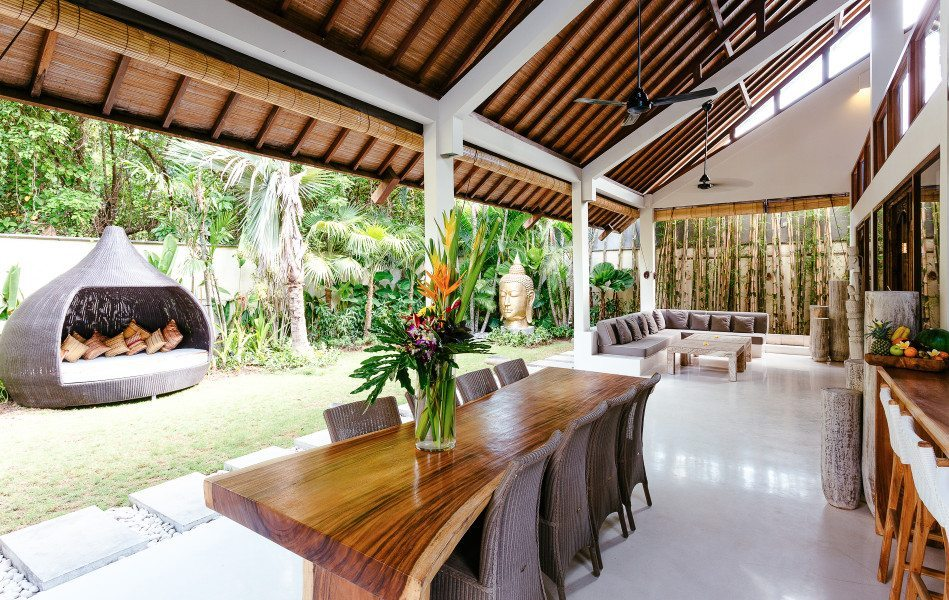Stunning dining area in our Bliss womens wellbeing retreat, Bliss Sanctuary For Women in Seminyak, Bali