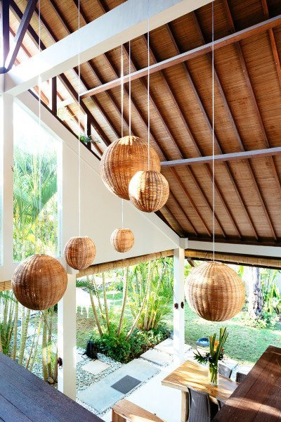 Beautiful high ceiling in living area at our Bliss Bali health & wellbeing retreat