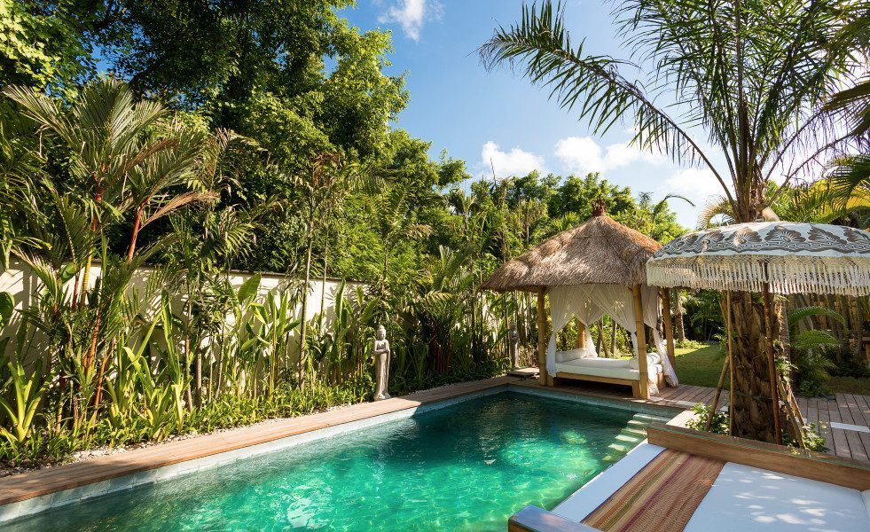 Bali retreats, Beautiful Bliss Sanctuary For Women, Seminyak Sanctuary, sparkling blue pool