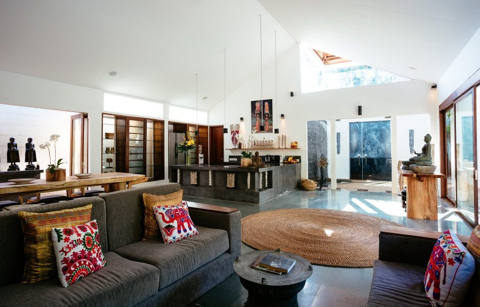 Gorgeous living area in Bali yoga and spa retreat in Seminyak, Bali