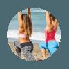 Women doing Cross-Fit at Bali Beach Cross Fit Package