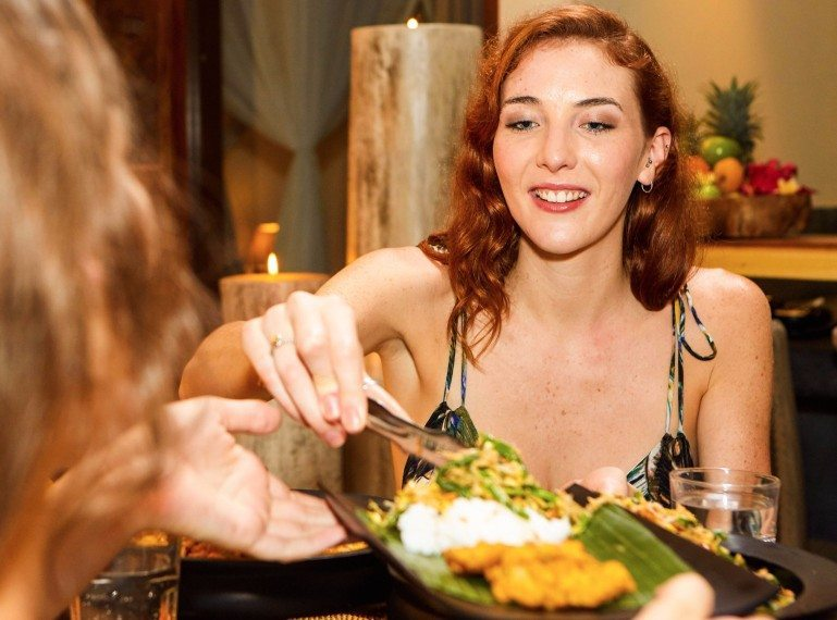 Fabulous unlimited food and group dinners at Bliss Sanctuary for Women