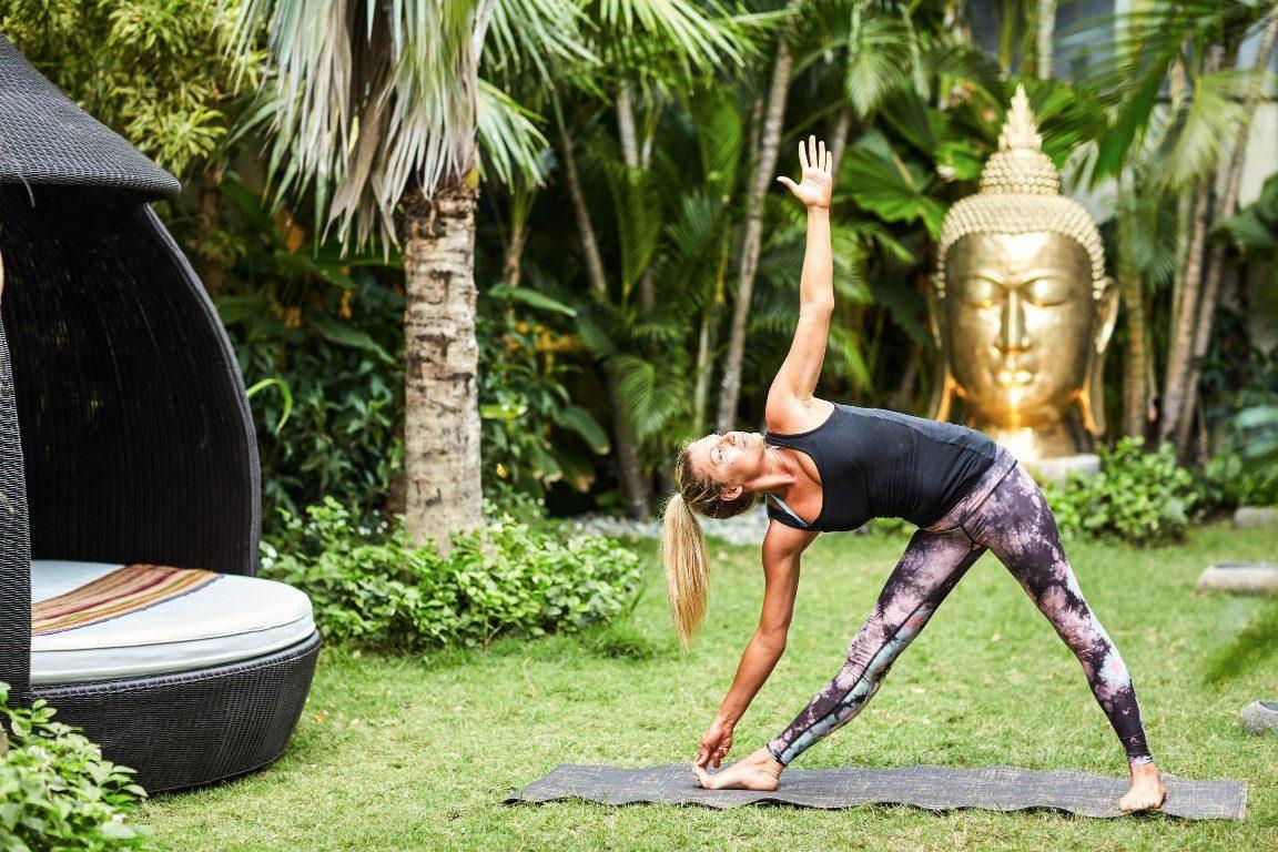 Women enjoying yoga on the Crossfit Bliss Package