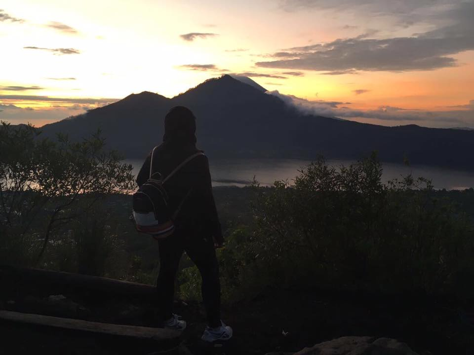 A woman on a Volcano trek while on the Bliss Sightseers Package. Sightsee without the stress of being a woman traveling alone