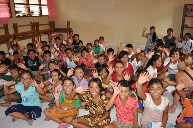 Children in school thanks to Bali Children Foundation. The Humanitarian Package is all about giving back to the children of Bali.