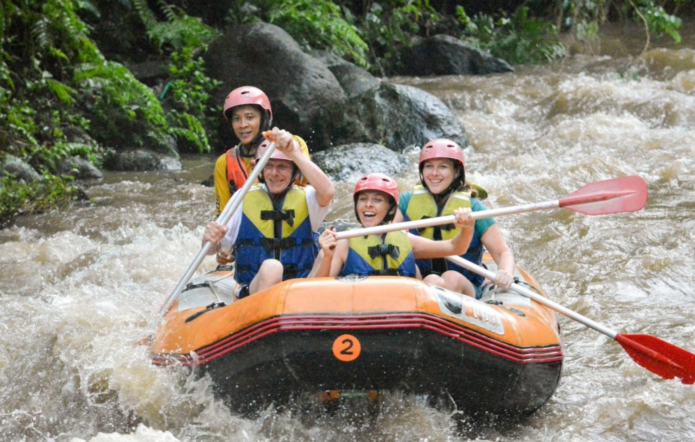 Thrill seeker package - White water rafting. Grab your oars and get ready to rage with this exhilarating rafting adventure on the spectacular Ayung River