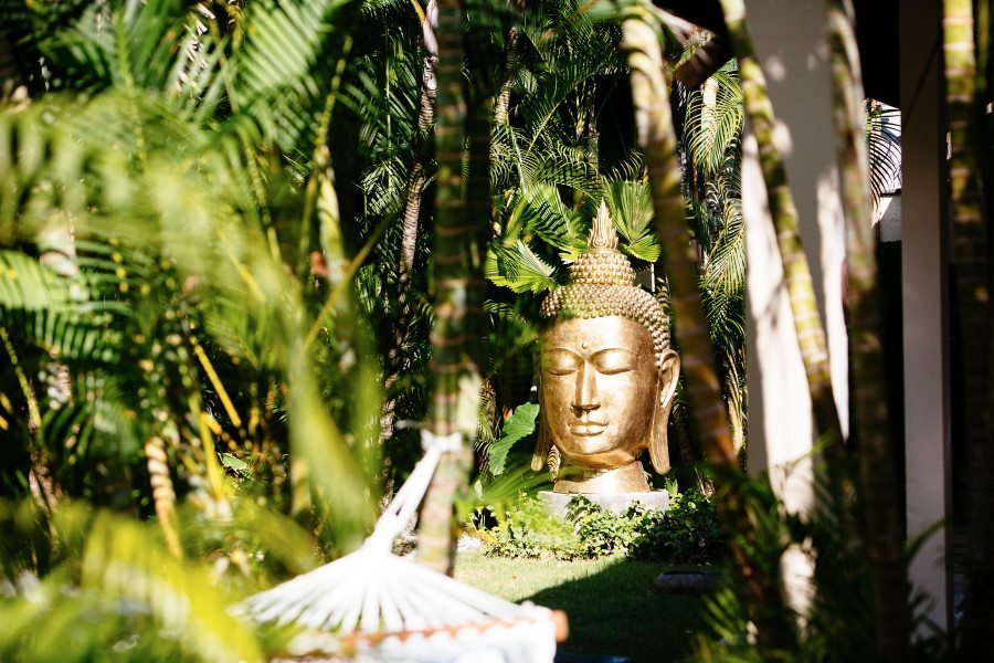 At our beautifully appointed Seminyak sanctuary retreat we have an on-site yoga shala, two gorgeous outdoor living and dining spaces, daybeds around the sparkling pool, a beautiful shaded meditation pod to retreat into as well as an amazing tropical garden, with a massage bale overlooking the pool. So many poolside lounges and places to escape in this luxe environment for massages, meditation, sun-baking, reading and ultimate peace and relaxation.