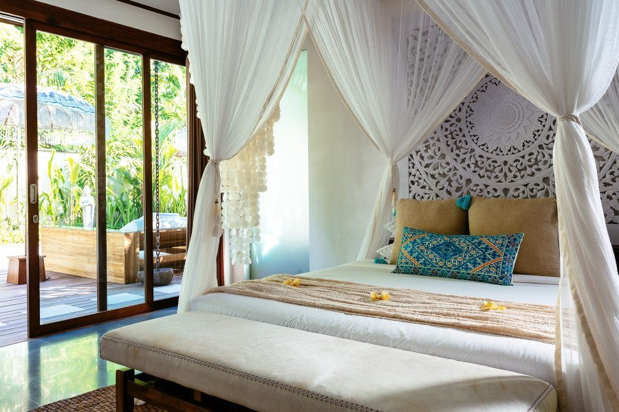Bliss Sanctuary for Women Seminyak Villa luxurious double room