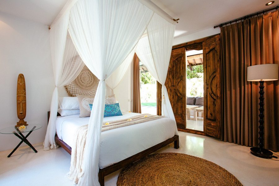Bliss Sanctuary for Women Seminyak Villa beautifully appointed bedrooms