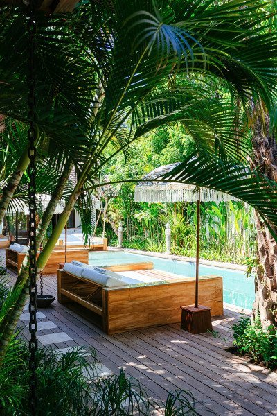 Bliss Sanctuary for Women Seminyak Villa glorious pool and day beds to relax