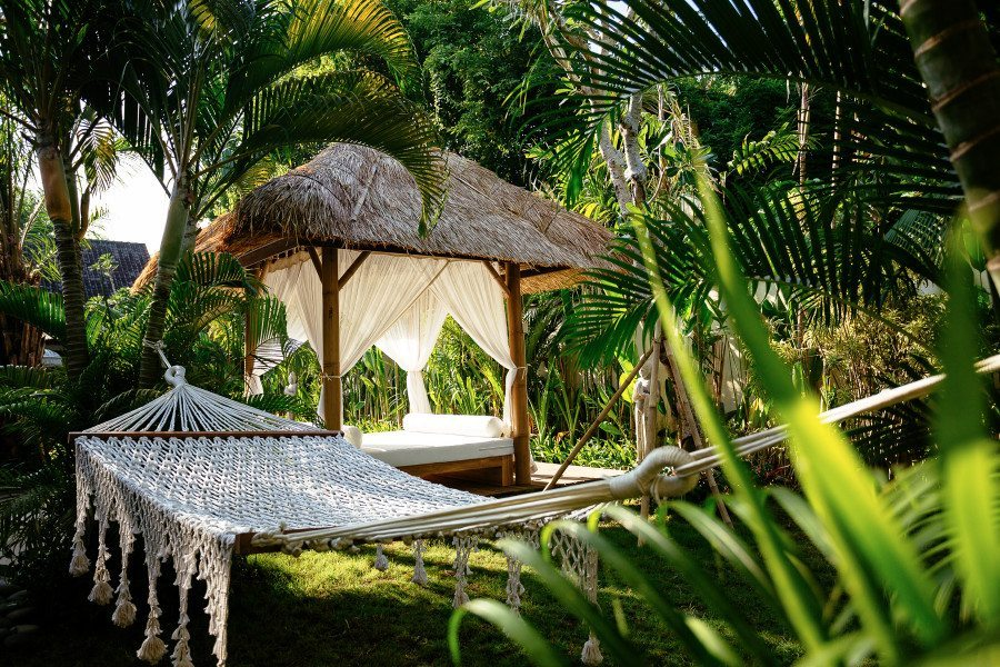 Bliss Sanctuary for Women gorgeous gardens with hammock and chill out areas