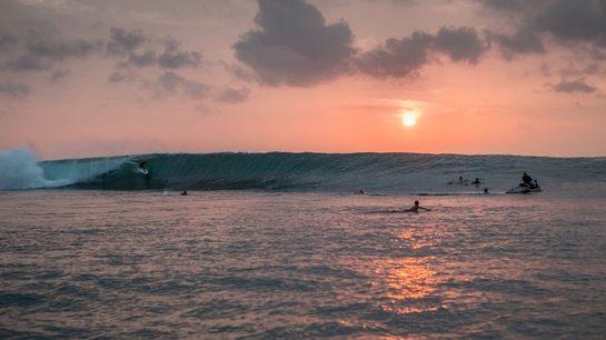 Sunset at beautiful Bali beach