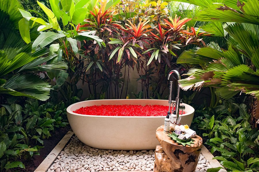 Bali retreats, Bliss stunning garden bath, Sanctuary For Women, New Canggu Sanctuary