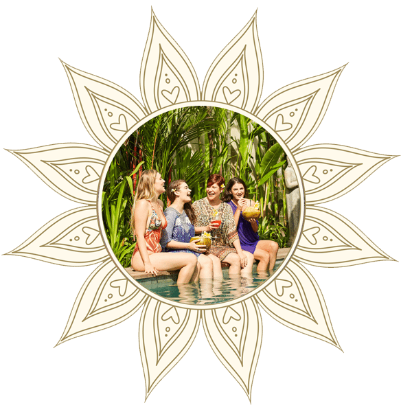 Women at a Bali Yoga Retreat