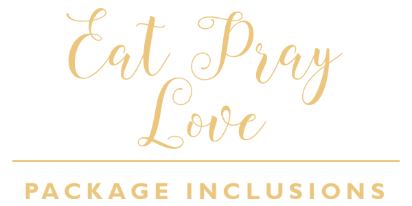 Eat, Pray, Love Package Inclusions