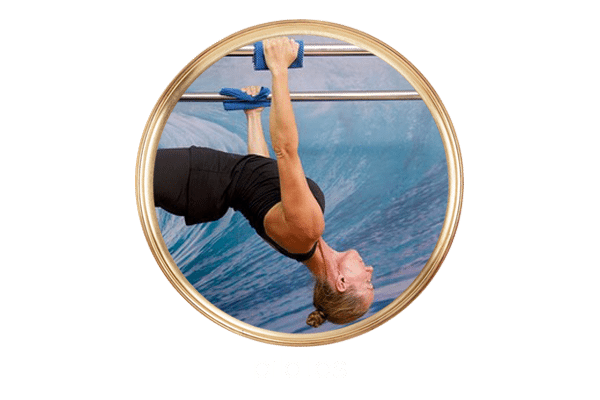 guest doing pilates at Bliss Bali retreat