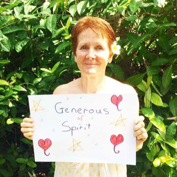 Bliss n tell  - Real people - Feel generous of spirit - at Bliss Sanctuary for Women in Bali
