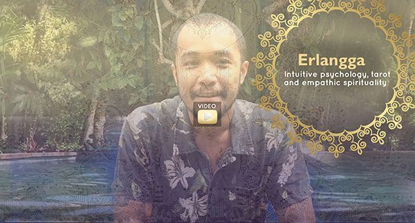 Erlangga tarot reader at our Bali Wellness Retreat for women