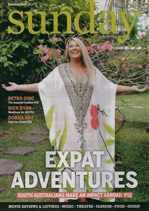 Sunday Mail Cover - Expat Adventures - Zoe Watson