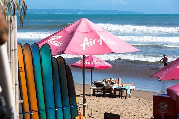Women relaxing on blissful beach at women's Retreat - Blissful beach, Seminyak Bali