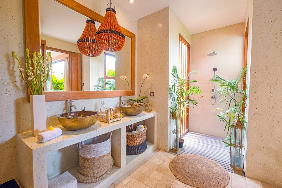 Stunning luxury bathroom, Bali retreat, Bliss Sanctuary For Women, New Canggu Sanctuary