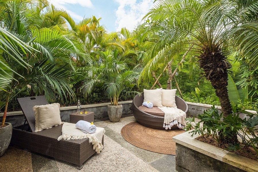 Relaxing in blissful outdoor area, Bali retreats, Bliss Sanctuary For Women, New Canggu Sanctuary