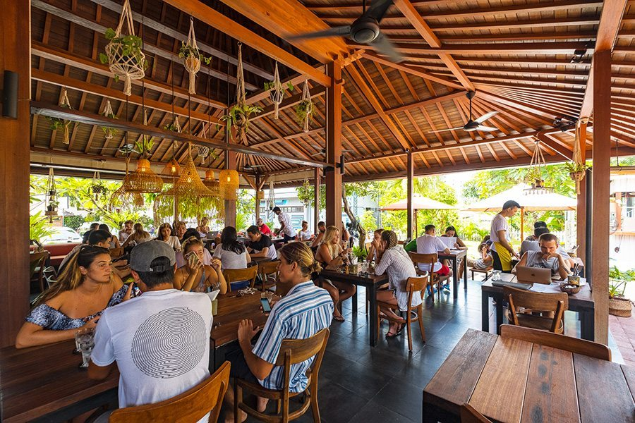 Bali retreat, Bliss sanctuary for women, Canggu local area, restaurant