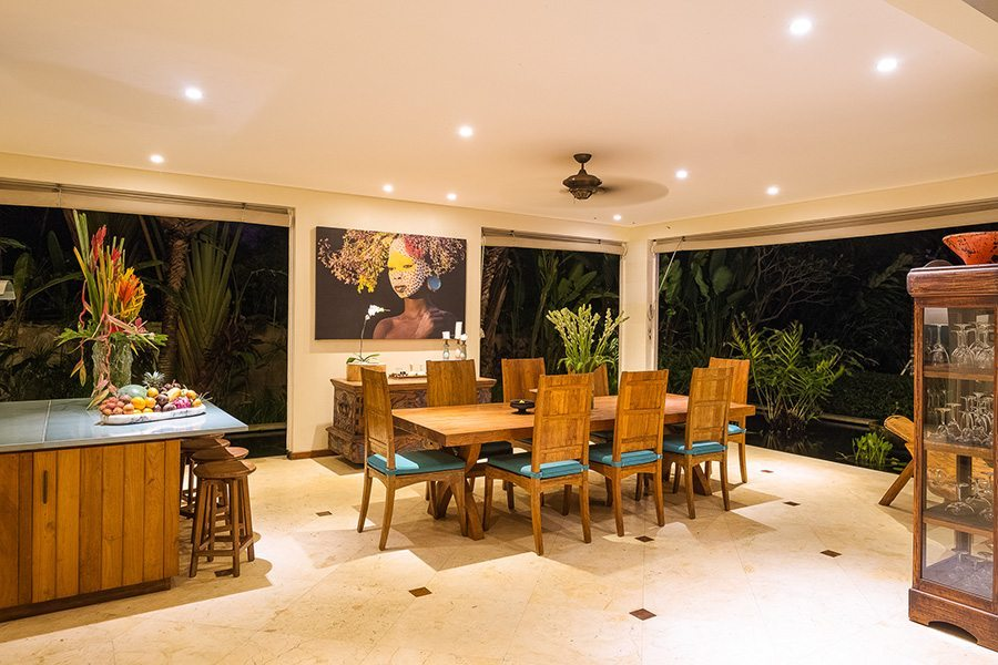 New Canggu Sanctuary, Bali retreats, Bliss Sanctuary For Women, New Canggu Sanctuary, gorgeous dining area