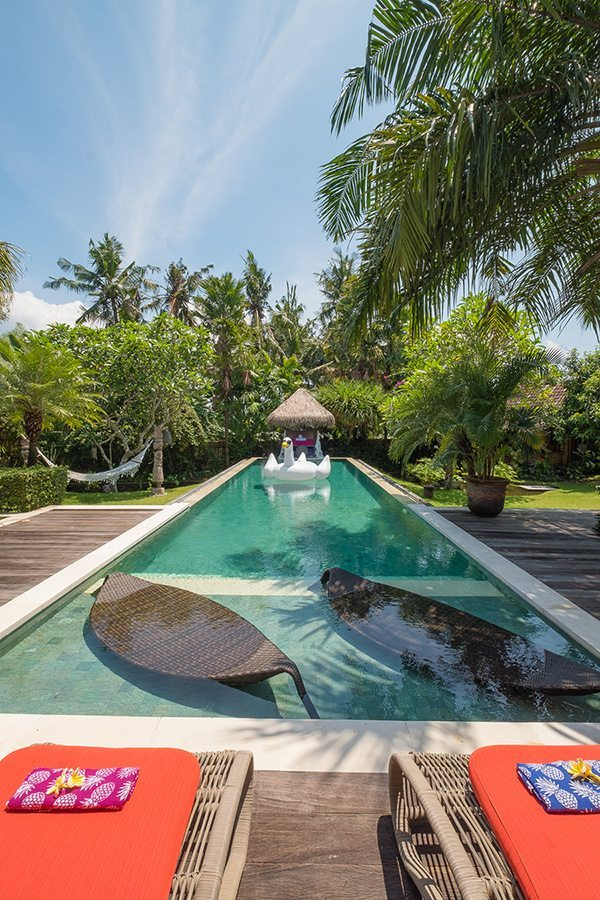 Bali retreats, chillout area, Bliss Sanctuary For Women, New Canggu Sanctuary, beautiful pool