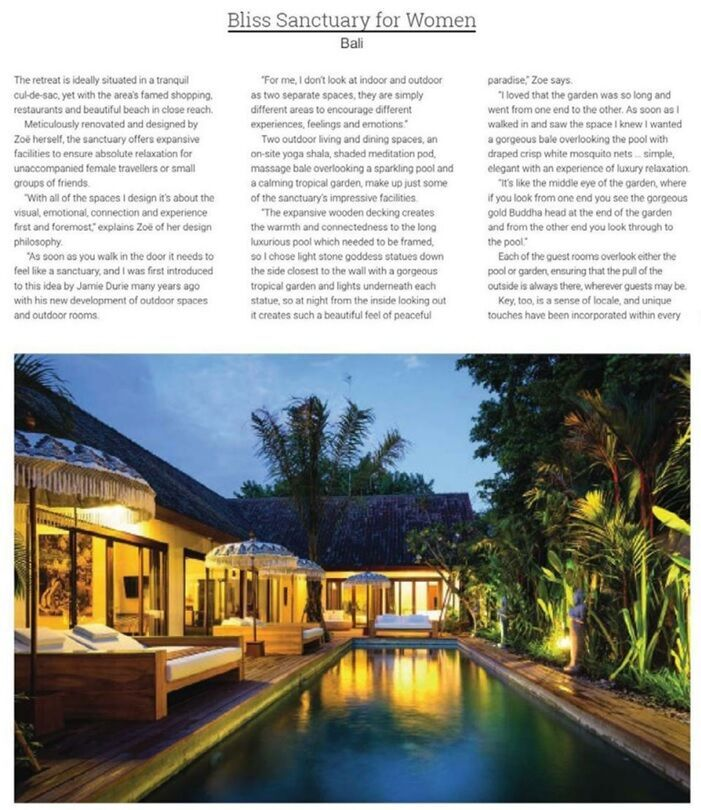 Hospitality Interiors Magazine: Bliss Sanctuary For Women, Bali