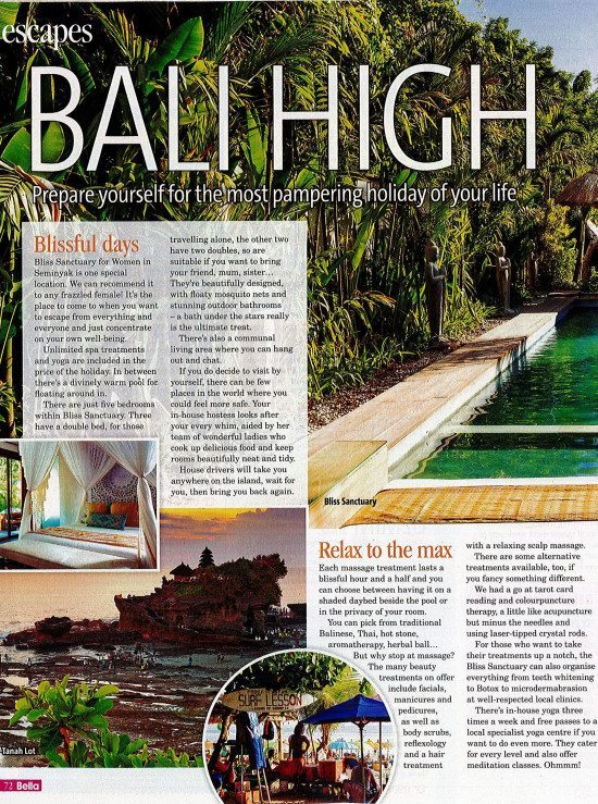 Bella Magazine: Escapes – Bali High