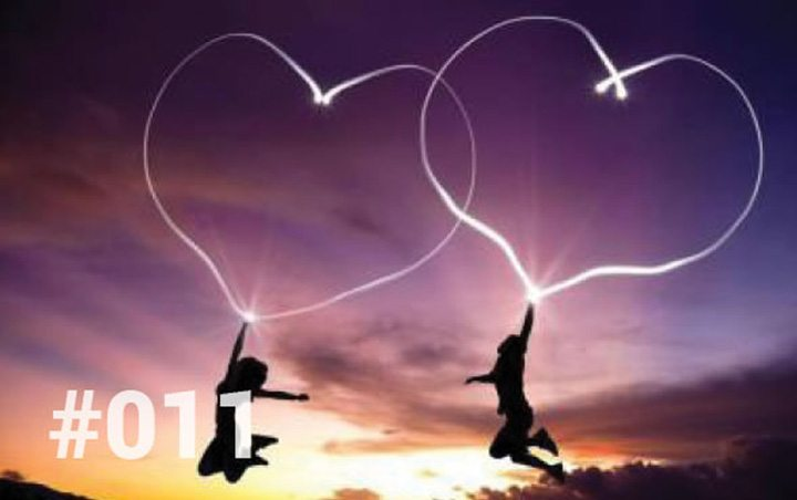 Bliss Sanctuary Bali - Blog 11 - Love not Marriage. Couple jumping at sunset with hearts