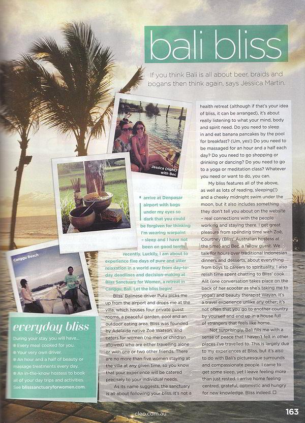 Cleo Magazine: Bali Bliss