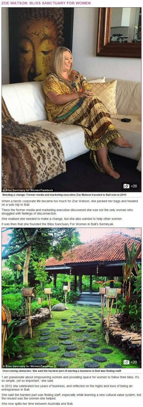 Daily Mail Online: Meet the Aussie entrepreneurs running their business in Bali