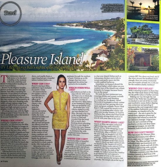 Daily Star: Pleasure Island – TV Life explores Bali's sights, spas and spiritual temples.
