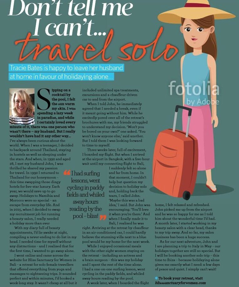 CLICK TO ZOOM Essentials Magazine: Don't Tell me I Can't... Travel Solo