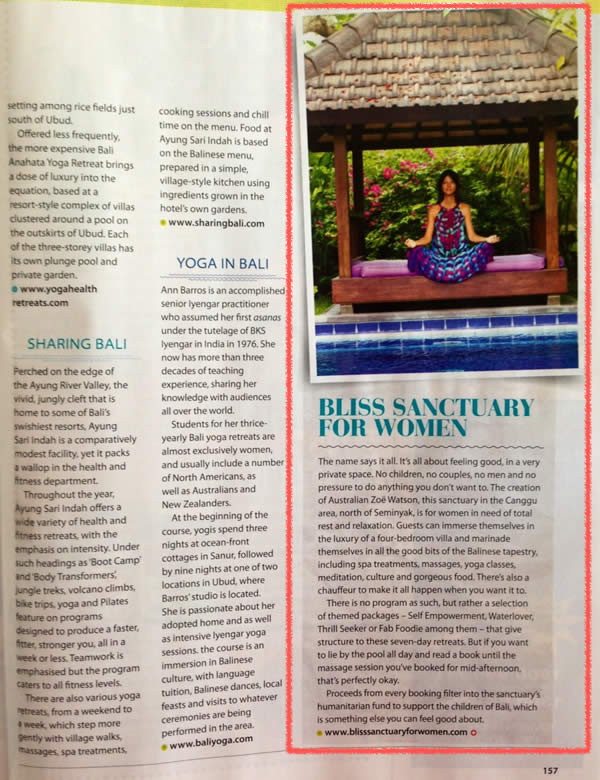 Good Health Magazine: Bliss Sanctuary For Women - Self Empowerment Retreat