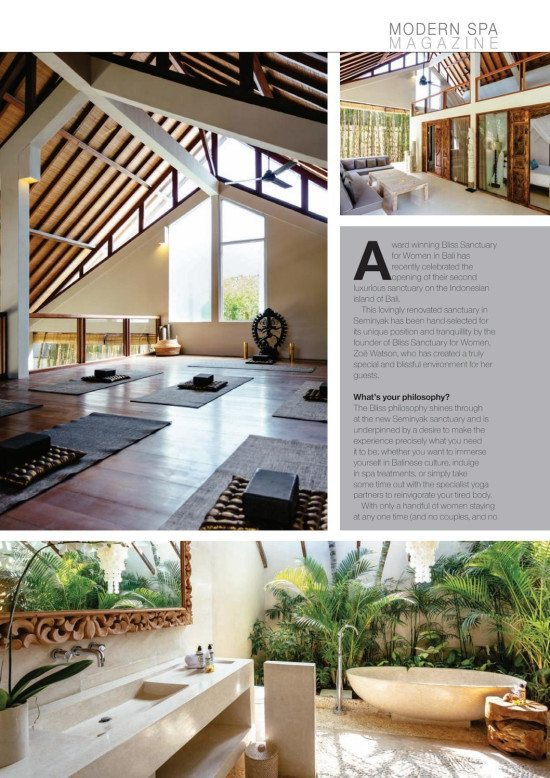 Modern Spa Magazine: Bliss Sanctuary, Seminyak